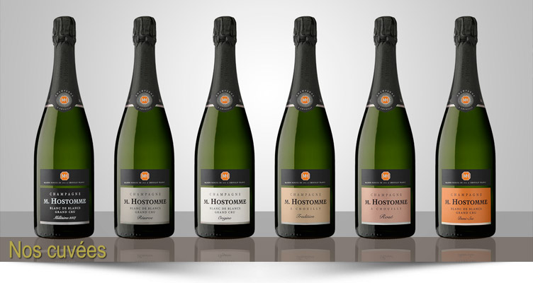 Champagne Hostomme bottles